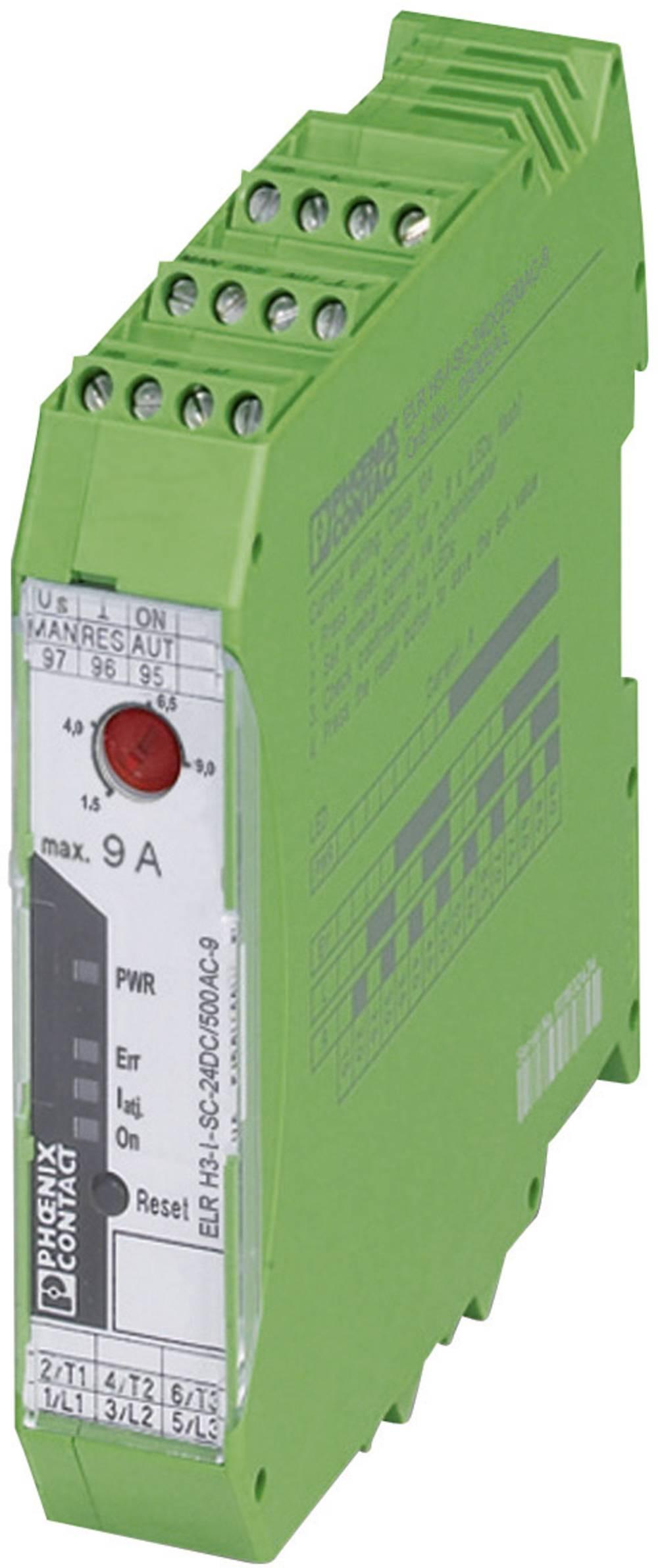 Zaščita motorja 1 kos ELR H3-I-SC-230AC/500AC-2 Phoenix Contact bremenski tok: 2.4 A preklopna napetost (maks.): 550 V/AC