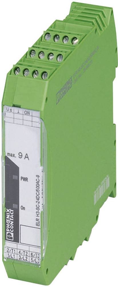 Zaščita motorja 1 kos ELR H3-SC-230AC/500AC-9 Phoenix Contact bremenski tok: 9 A preklopna napetost (maks.): 550 V/AC