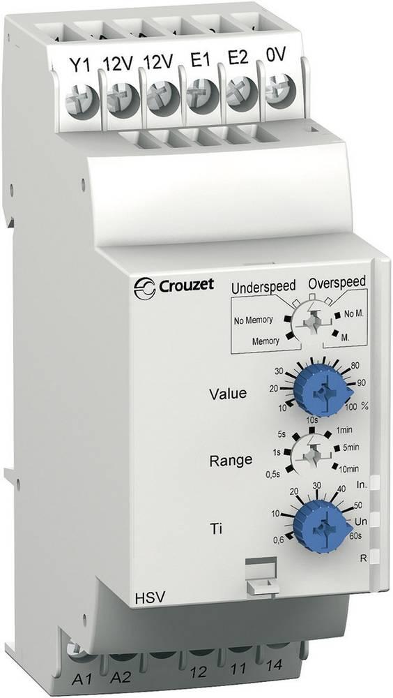 Overvågningsrelæer 240, 240 - 24, 24 V/DC, V/AC 1 x skiftekontakt 1 stk Crouzet HSV Hastighed undershoot, Overhastighed