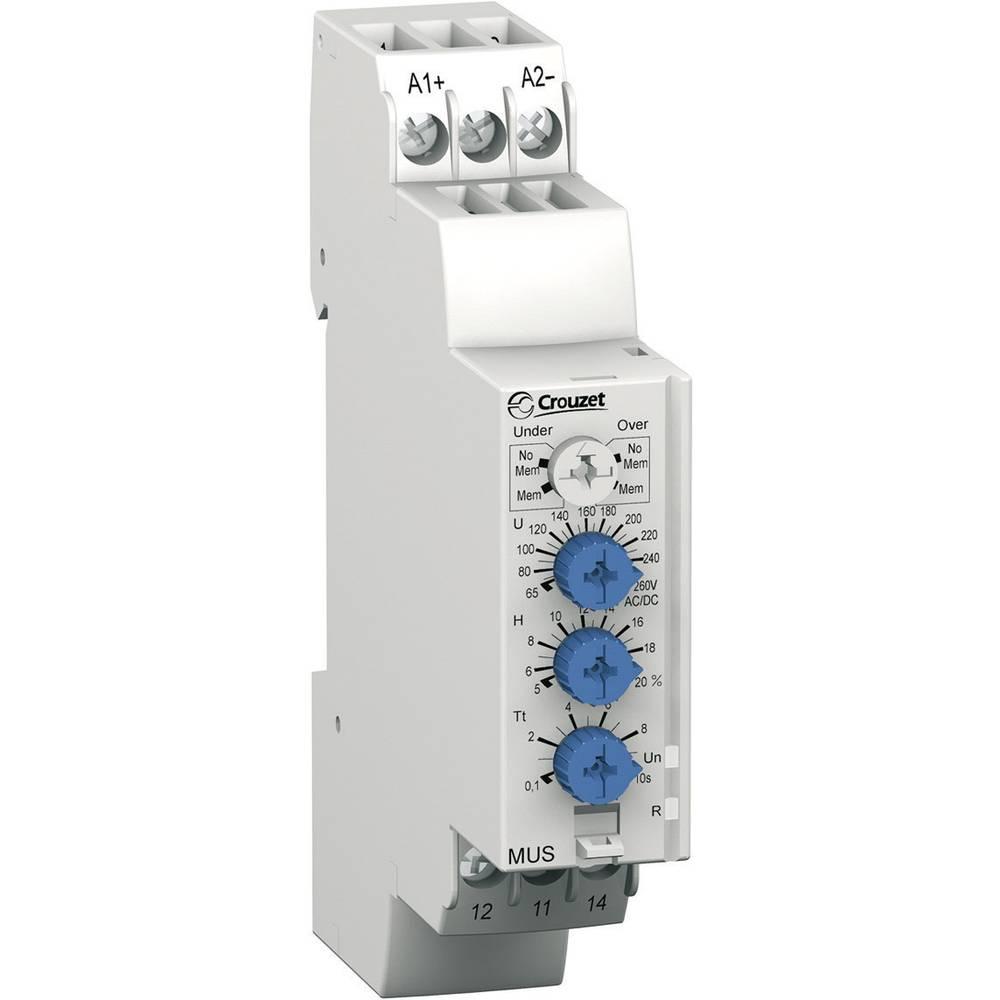 Overvågningsrelæer 48, 48 - 24, 24 V/DC, V/AC 1 x skiftekontakt 1 stk Crouzet MUS260 Overbelastning, Underspænding