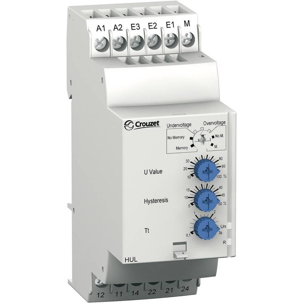 Overvågningsrelæer 240, 240 - 24, 24 V/DC, V/AC 2 x omskifter 1 stk Crouzet HUL Overbelastning, Underspænding