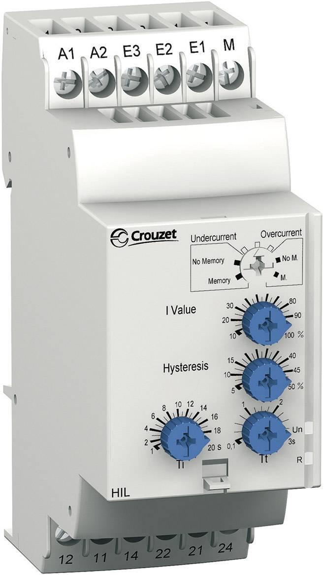 crouzet 84871120 hil current monitoring relay from conrad com rh conrad com Crouzet Time Delay Relay Crouzet Phase Monitoring Relay
