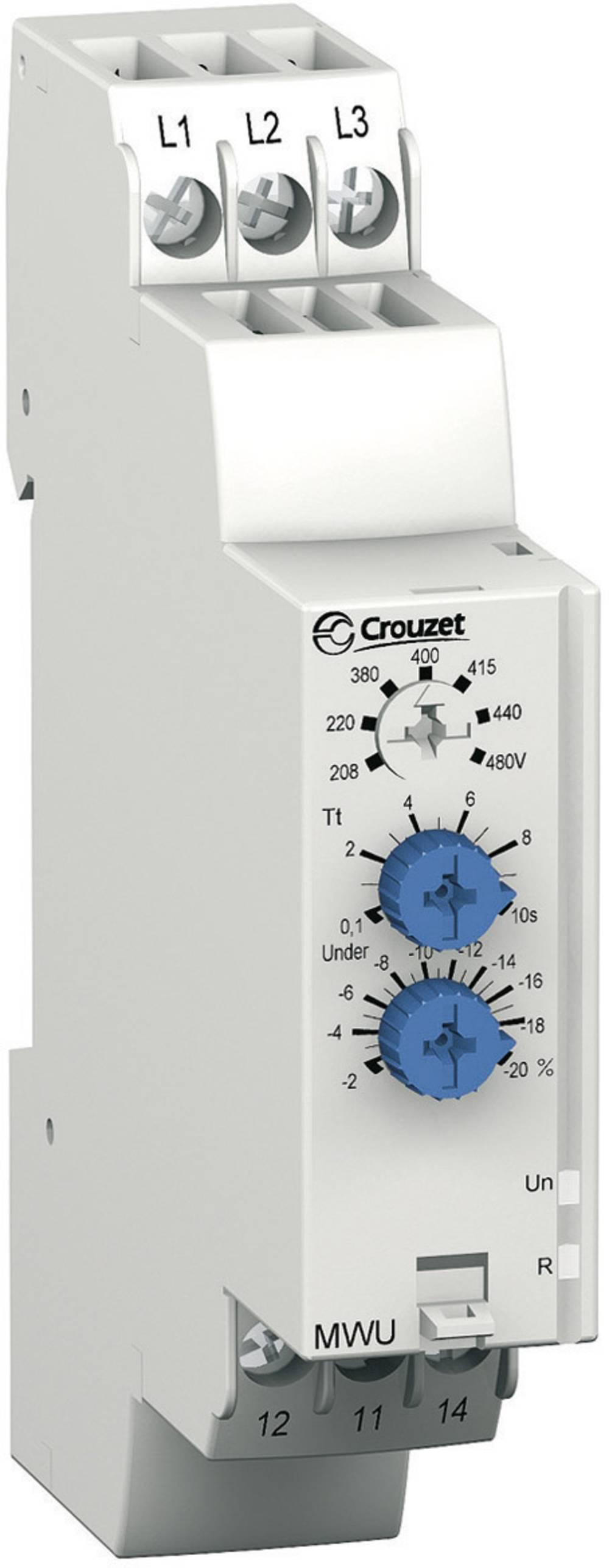 Crouzet-MWU Vešefunkcijski nadzorni relej faza, za 3-fazna omrežja/faze