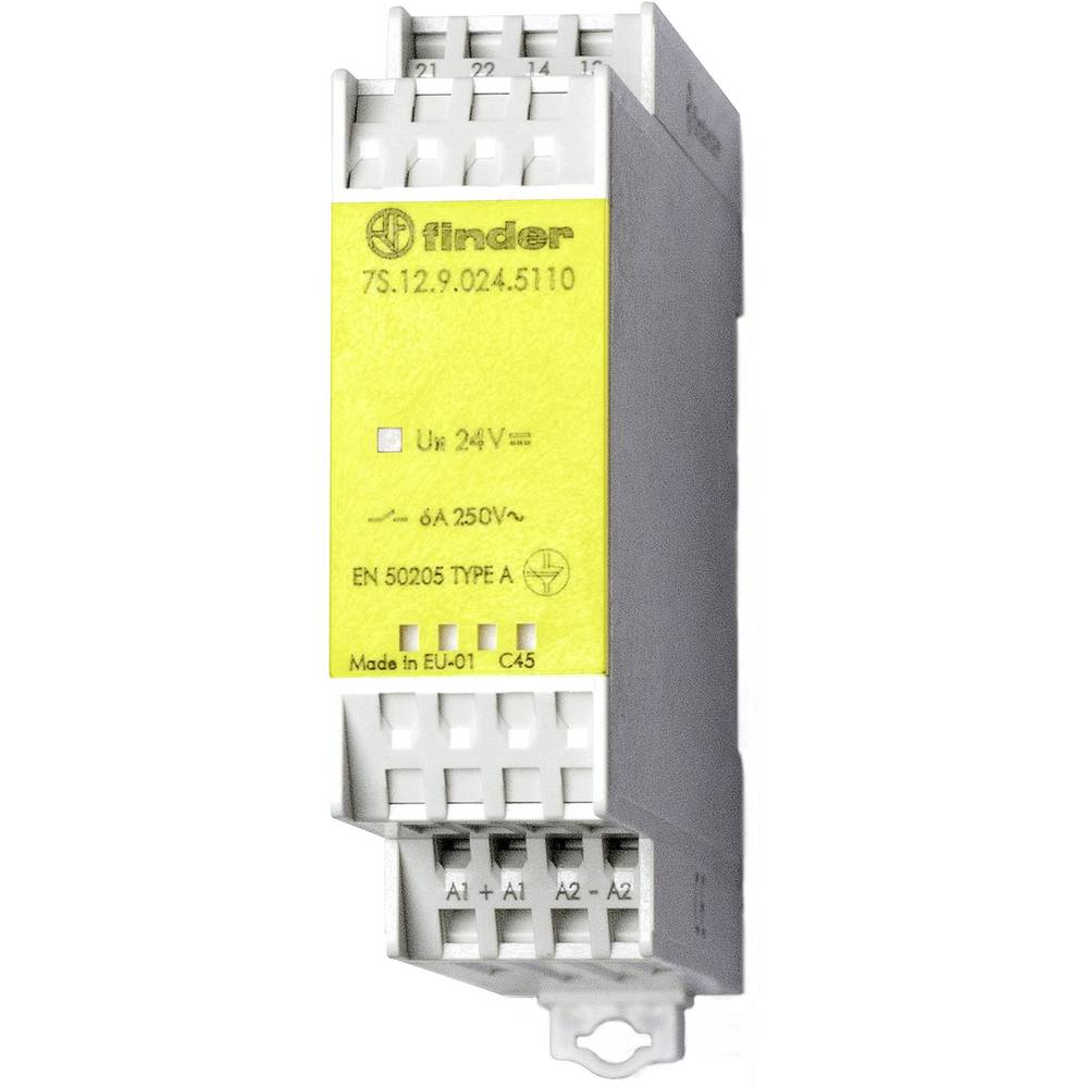 Finder 7s1290245110 6a Relay Module With Forcible Guided Switch Lifespan Contacts Spst