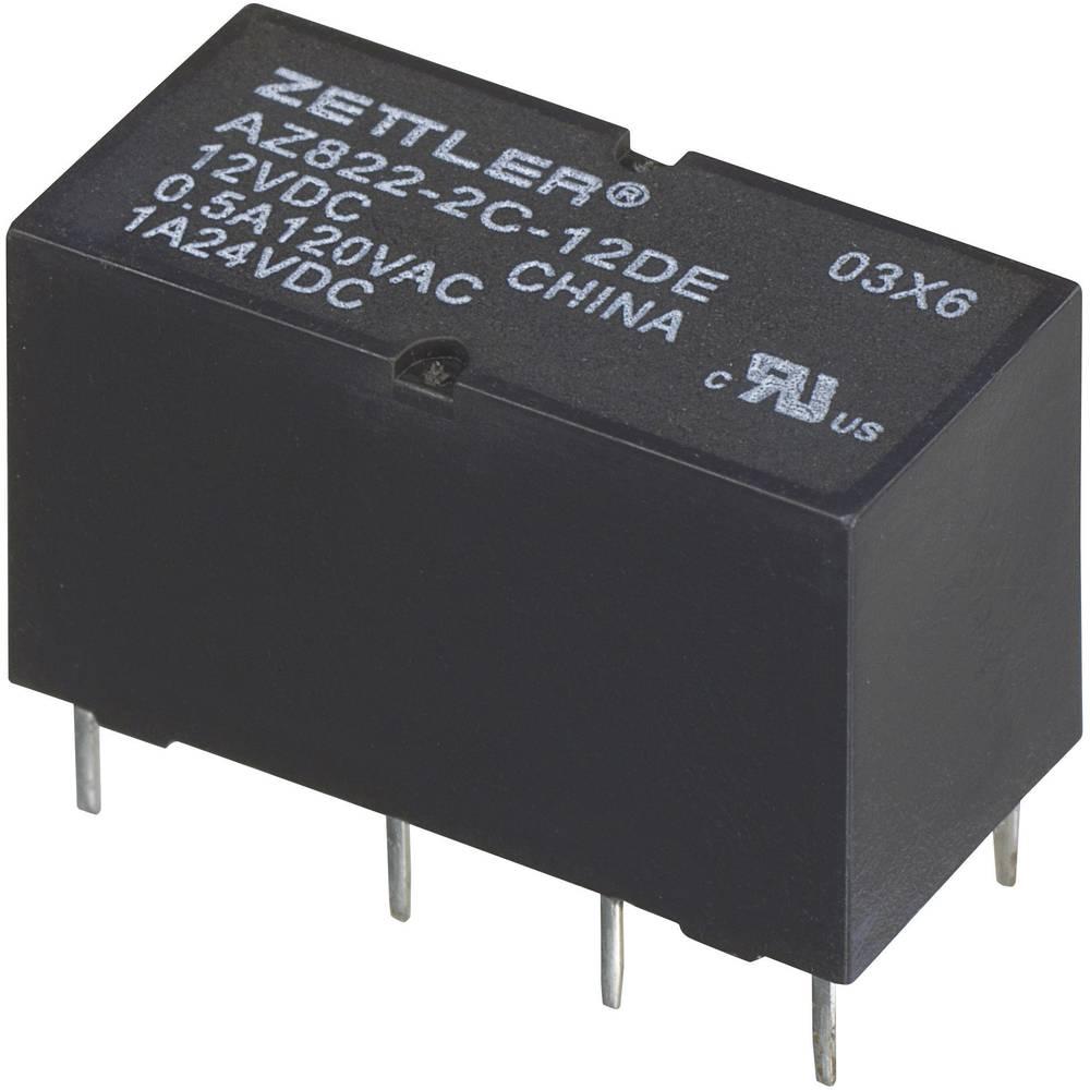 Printrelæ 24 V/DC 2 A 2 x omskifter Zettler Electronics AZ822-2C-24DSE 1 stk