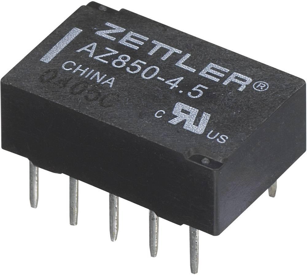 Printrelæ 5 V/DC 1 A 2 x omskifter Zettler Electronics AZ850P2-5 1 stk