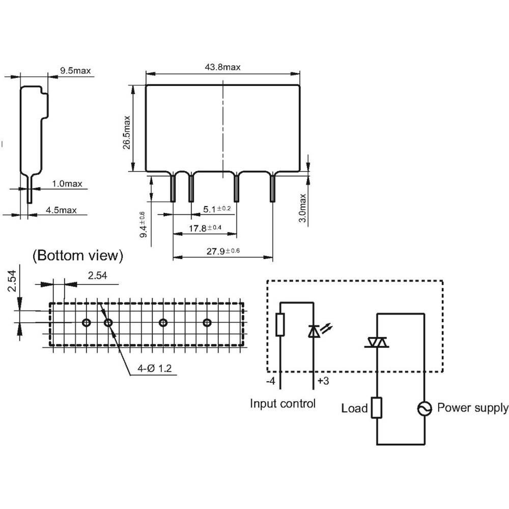 Hongfa Hfs41 1d 480a5zs Ng Sip Pcb Solid State Relay From Conrad Solidstaterelay Schematic