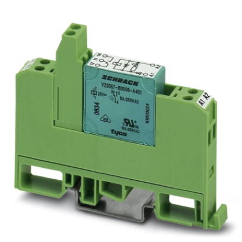 Relækomponent 10 stk Phoenix Contact EMG 10-REL/KSR-G 24/21-LC Nominel spænding: 24 V/DC Brydestrøm (max.): 6 A 1 x skiftekontak