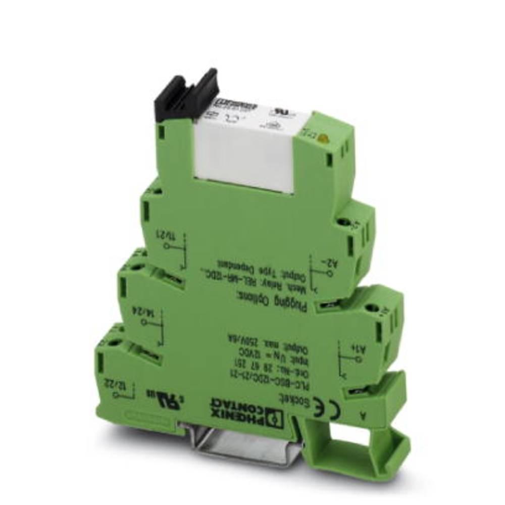 Interfacerelæ 10 stk 24 V/DC 6 A 2 x omskifter Phoenix Contact PLC-RPT- 24DC/21-21