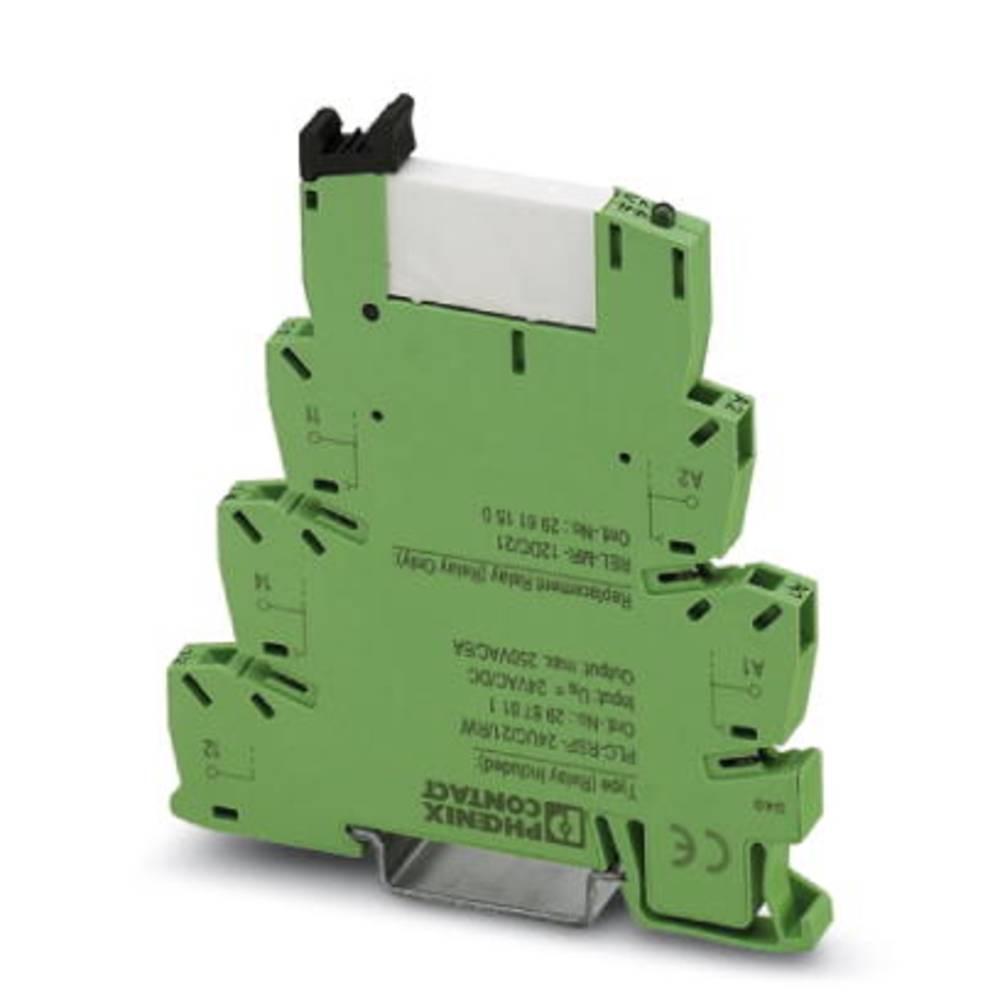 Relækomponent 10 stk 24 V/DC, 24 V/AC 6 A 1 x skiftekontakt Phoenix Contact PLC-RSP- 24UC/21/RW