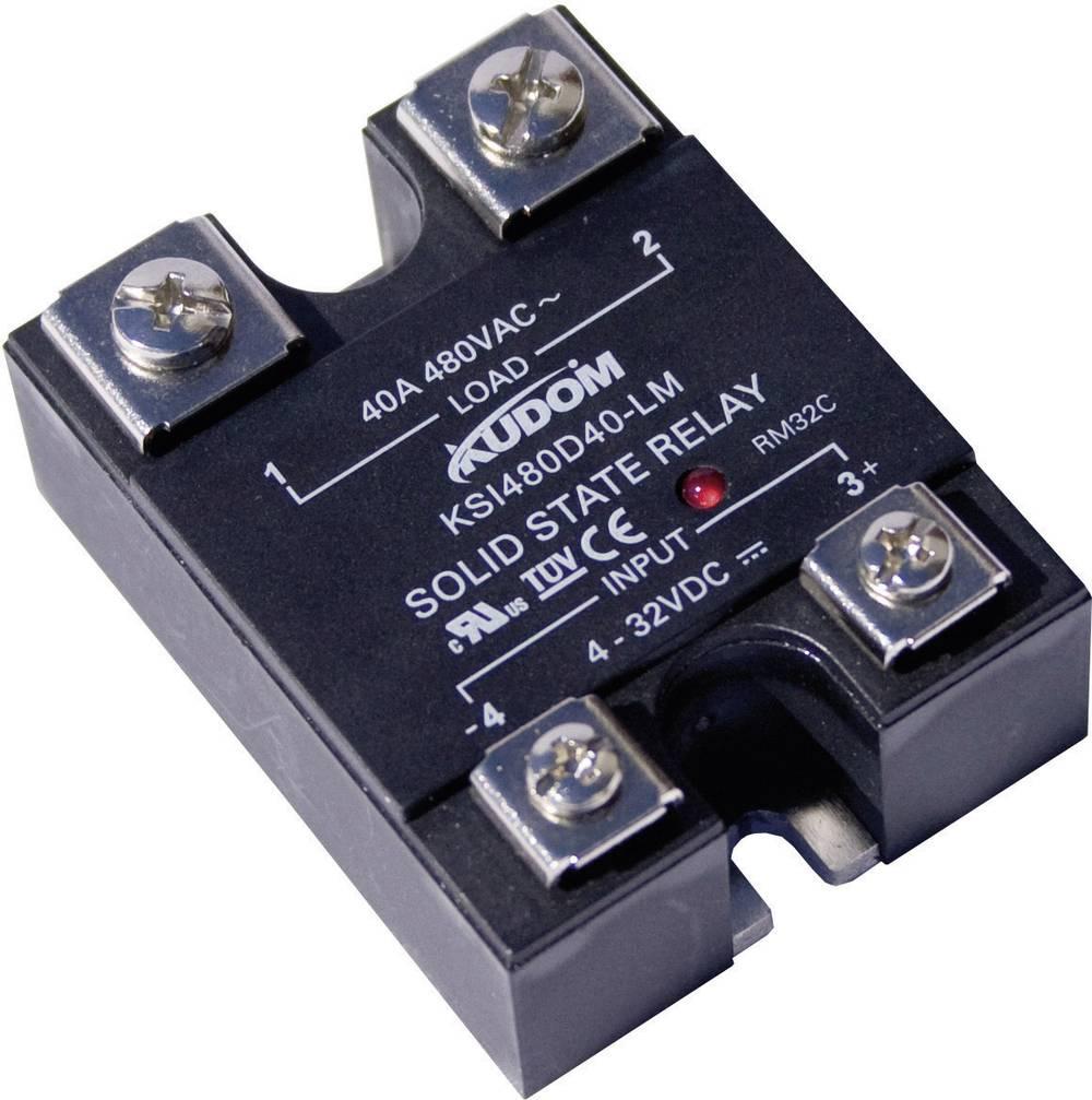 Halvlederrelæ 1 stk Kudom KSI480 D25 LM Last-Strøm (maks.): 25 A Koblingsspænding (max.): 530 V/AC