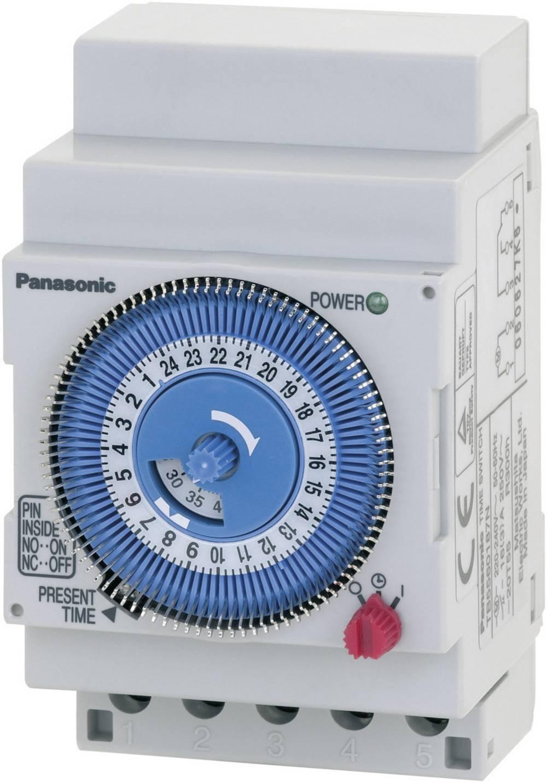 Timer til DINskinne Driftsspænding (num): 230 V/AC Panasonic TB5560187NJ 1 x skiftekontakt 16 A 250 V/AC Dagsprogram, Quarzmotor