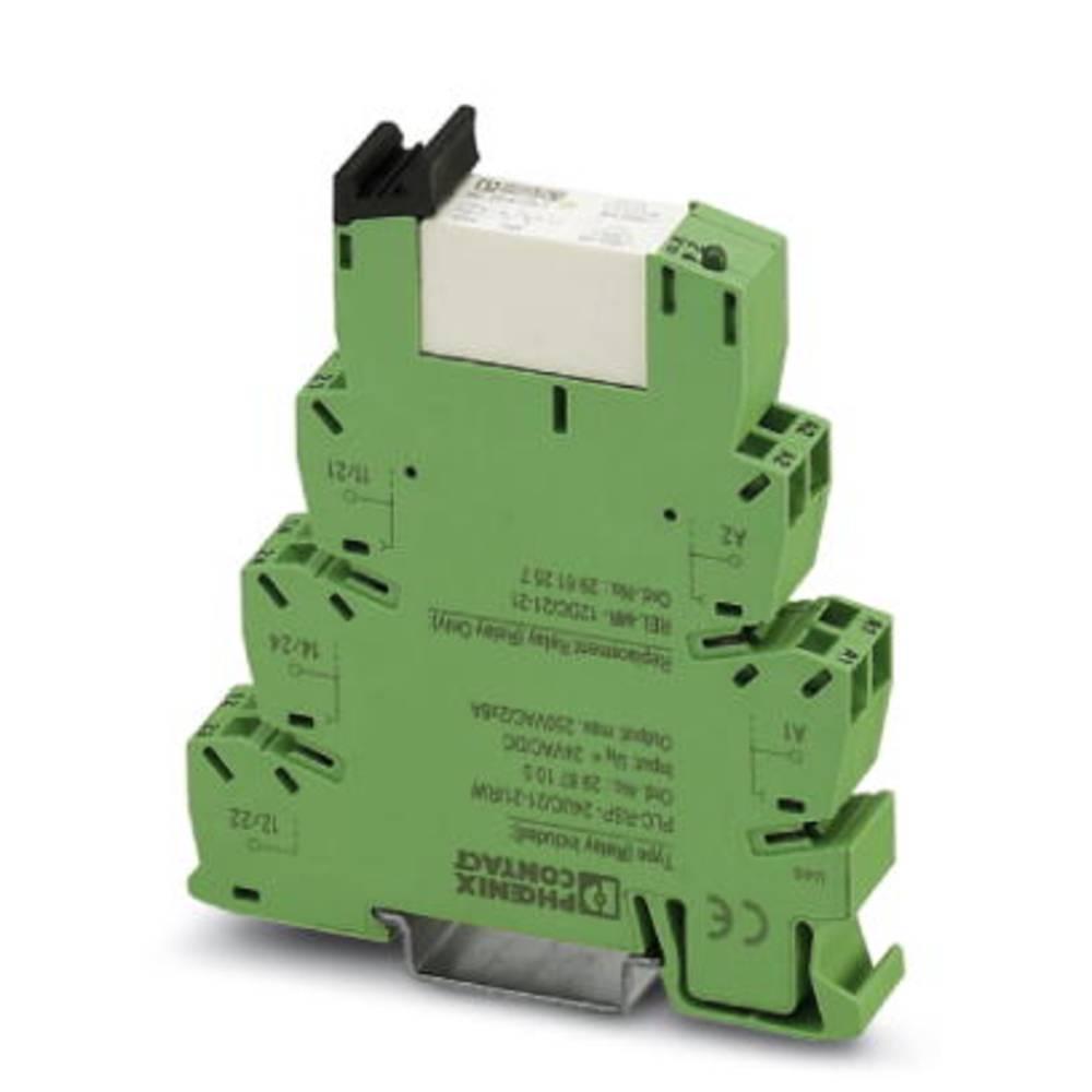 Vmesniški rele 10 kosov 24 V/DC, 24 V/AC 50 mA 2 izmenjevalnika Phoenix Contact PLC-RPT- 24UC/21-21AU/RW