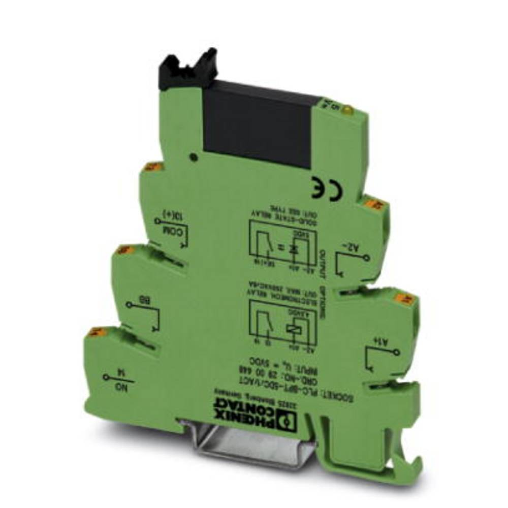Halvlederrelæ 10 stk Phoenix Contact PLC-OPT- 5DC/ 24DC/2/ACT Last-Strøm (maks.): 3 A Koblingsspænding (max.): 33 V/DC