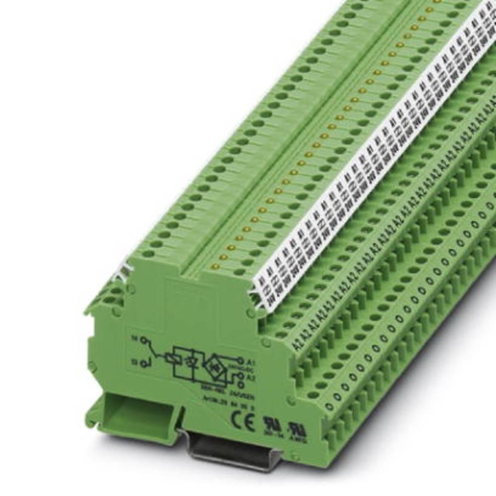 Relæklemme 10 stk Phoenix Contact DEK-REL- 24/1/SEN Nominel spænding: 24 V/DC, 24 V/AC Brydestrøm (max.): 3 A 1 x sluttekontakt