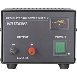 Laboratoriestrømforsyning, fast spænding VOLTCRAFT FSP-1243 24 V/DC (max.) 3 A (max.) 72 W Antal udgange 1 x