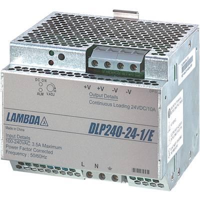 TDK-Lambda DLP-240-24-1/E Rail mounted PSU (DIN) 24 V DC 10 A 240 W 1 x