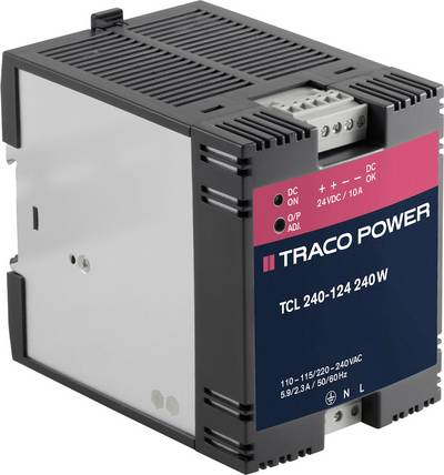 TracoPower TCL 240-124 Rail mounted PSU (DIN) 24 Vdc 10 A 240 W 1 x