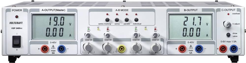 Laboratorijski napajalnik, nastavljiv VOLTCRAFT VSP 2405 0.1 - 40 V/DC 0 - 5 A 409 W število izhodov: 3 x kalibriran po DAkkS