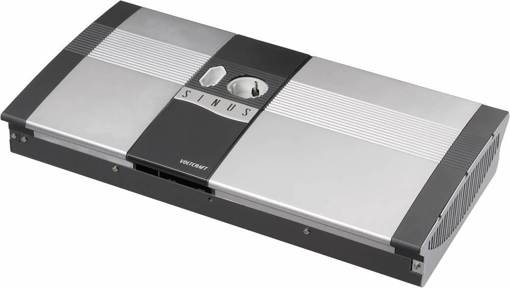 Inverter VOLTCRAFT SW-2000 12V 2000 W 12 V/DC 12 V/DC Kan fjernbetjenes Skrueklemmer 1x Europa-stikdåse, Jordstik