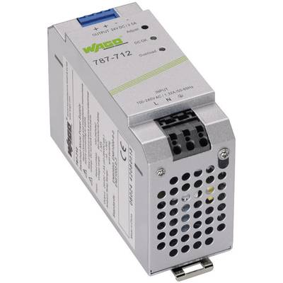 WAGO EPSITRON® ECO POWER 787-712 Rail mounted PSU (DIN) 24 V DC 2.5 A 60 W 1 x