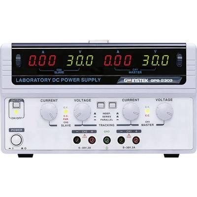 Bench PSU (adjustable voltage) GW Instek GPS-2303 0 – 30 V DC 0 – 3 A 180 W No. of outputs 2 x