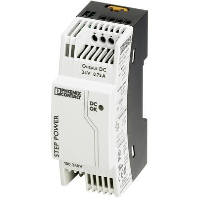 Phoenix Contact STEP-PS/1AC/24DC/0.75 Rail mounted PSU (DIN) 24 V DC 0.83 A 18 W 1 x