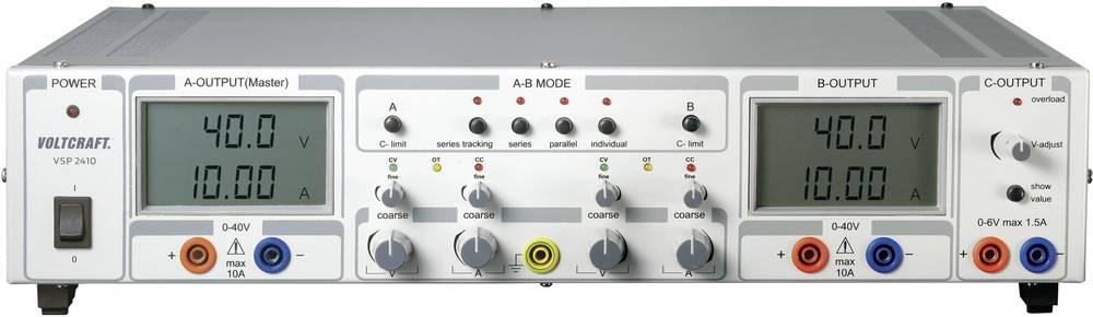 Laboratorijski napajalnik, nastavljiv VOLTCRAFT VSP 2410 0.1 - 40 V/DC 0 - 10 A 809 W število izhodov: 3 x kalibriran po DAkkS