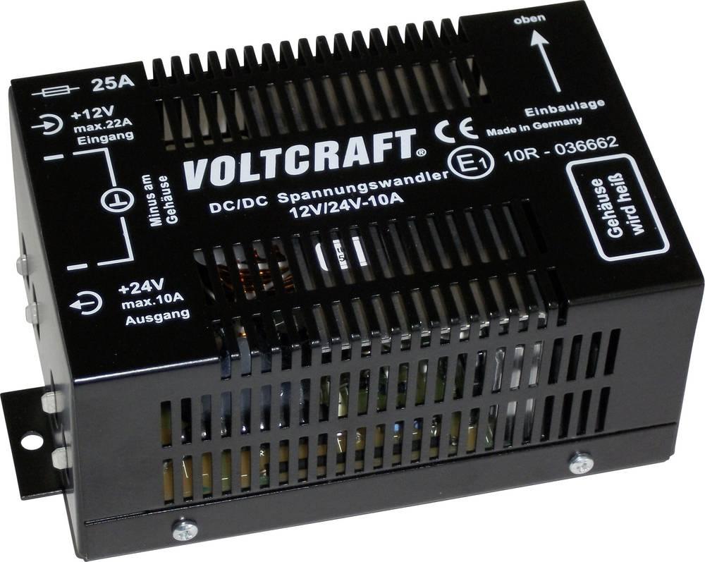 DC/DC-pretvornik za vozila VOLTCRAFT 12/10 24 V/DC/10 A