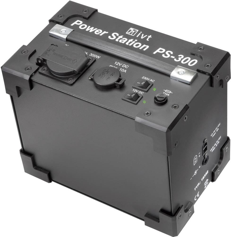 Izmjenjivač IVT PS-300 Power Station 300 W 230 V/AC, 12 V/DC 230 V/AC, 12 V/DC ugrađeni akumulator