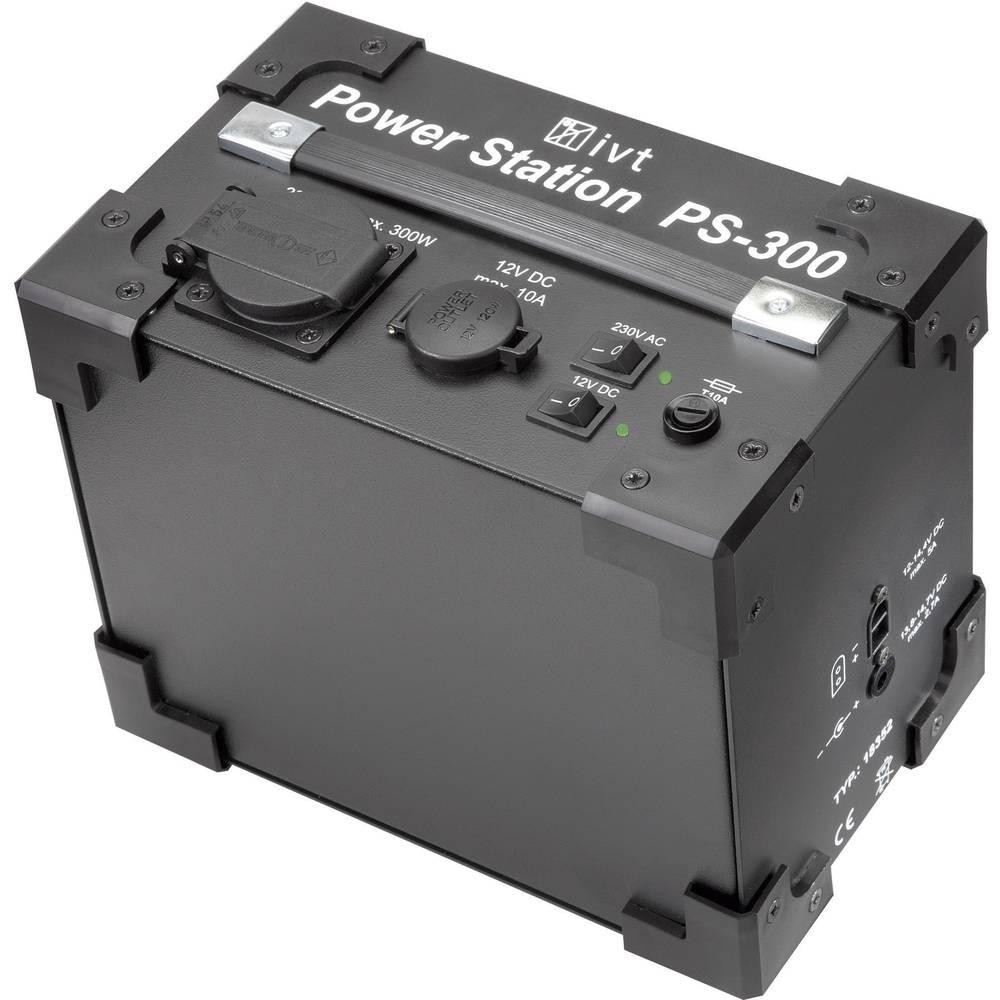 Razsmernik IVT PS-300 Power Station 300 W 230 V/AC, 12 V/DC 230 V/AC, 12 V/DC vgrajen akumulator, brez ventilatorja