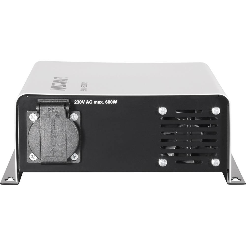 Inverter VOLTCRAFT SWD-600/24 600 W 24 V/DC 24 V/DC Kan fjernbetjenes Skrueklemmer Jordstik