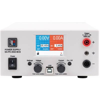 EA Elektro-Automatik EA-PS 2042-10B Bench PSU (adjustable voltage) 0 - 42 V DC 0 - 10 A 160 W USB remote controlled No. of outputs 1 x