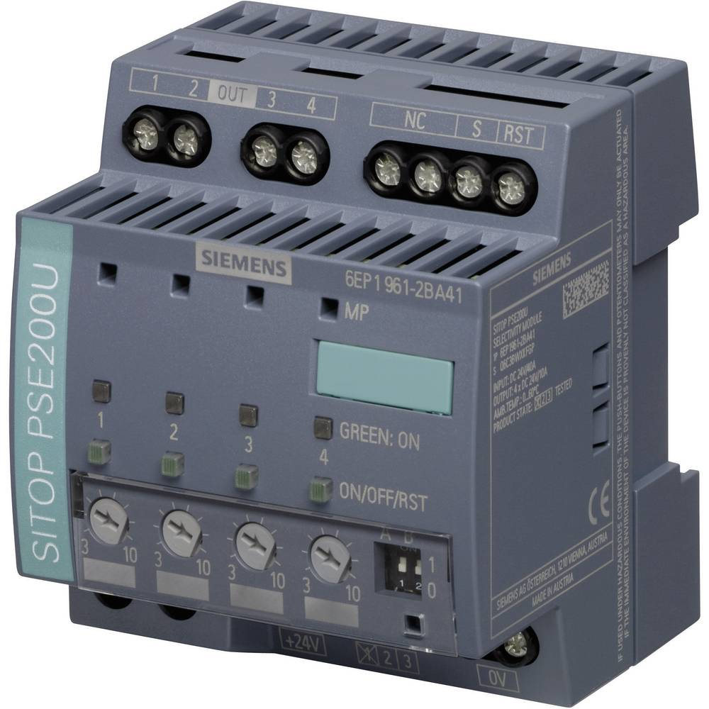 Electronic Fuse Siemens 6ep1961 2ba41 10 A No Of Outputs 4 X From Fuses And Circuit Breakers