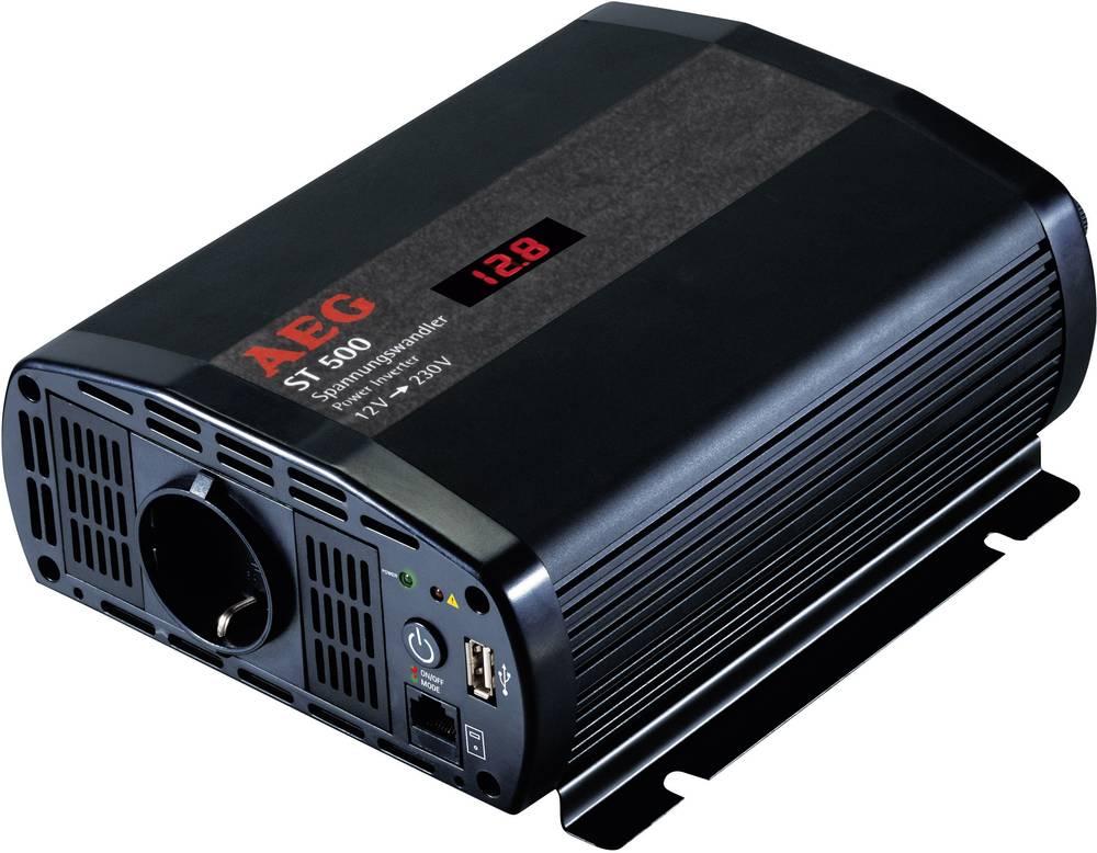 Izmjenjivač AEG ST 500 500 W 12 V/DC 12 V/DC (10.5 - 12.0 V/DC) uklj. daljinski upravljač, vijčana spojka