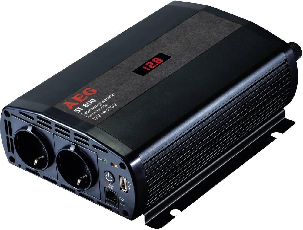 Izmjenjivač AEG ST 800 800 W 12 V/DC 12 V/DC (10.5 - 12.0 V/DC) uklj. daljinski upravljač, vijčana spojka