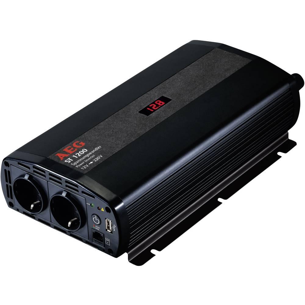 Izmjenjivač AEG ST 1200 1200 W 12 V/DC 12 V/DC (10.5 - 12.0 V/DC) uklj. daljinski upravljač, vijčana spojka