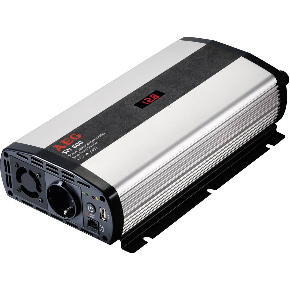 Razsmernik AEG SW 600 600 W 12 V/DC 12 V/DC (10.5 - 12.0 V/DC) vklj. daljinski upravljalnik, vijačne objemke, varnostna vtičnica