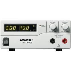 Laboratoriestrømforsyning, indstillelig VOLTCRAFT PPS-16005 1 - 36 V/DC 0 - 10 A 360 W USB, Remote programmerbar Antal udgange 2
