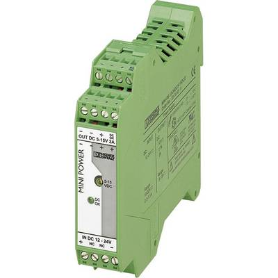 Phoenix Contact MINI-PS-12-24DC/5-15DC/2 Rail mounted PSU (DIN) 2 A 1 x