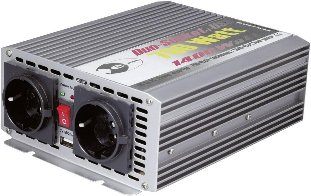 Inverter e-ast CL700-D-24 700 W 24 V/DC 24 V/DC (22 - 28 V) Skrueklemmer, Cigarettænder-stik