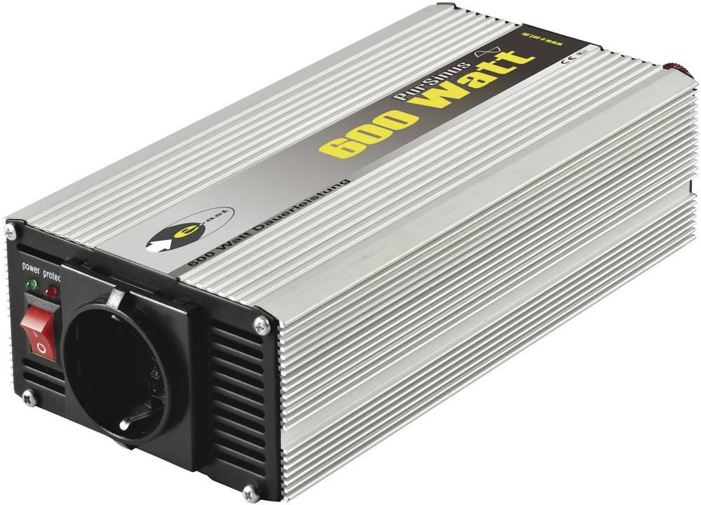 Izmjenjivač e-ast CLS 600-12 600 W 12 V/DC 12 V/DC (11 - 15 V) vijčana spojka, utičnica sa zaštitom od prenapona