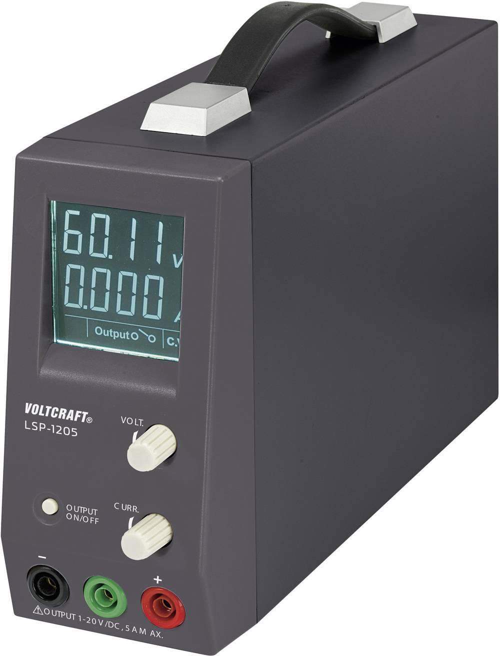 Laboratorijski napajalnik, nastavljiv VOLTCRAFT LSP-1205 1 - 20 V/DC 0.15 - 5 A 100 W število izhodov: 1 x kalibriran po ISO