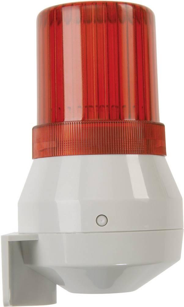 Kombinirani oddajnik signala Auer Signalgeräte KDF rdeča bliskavica, neprekinjen ton 24 V/DC