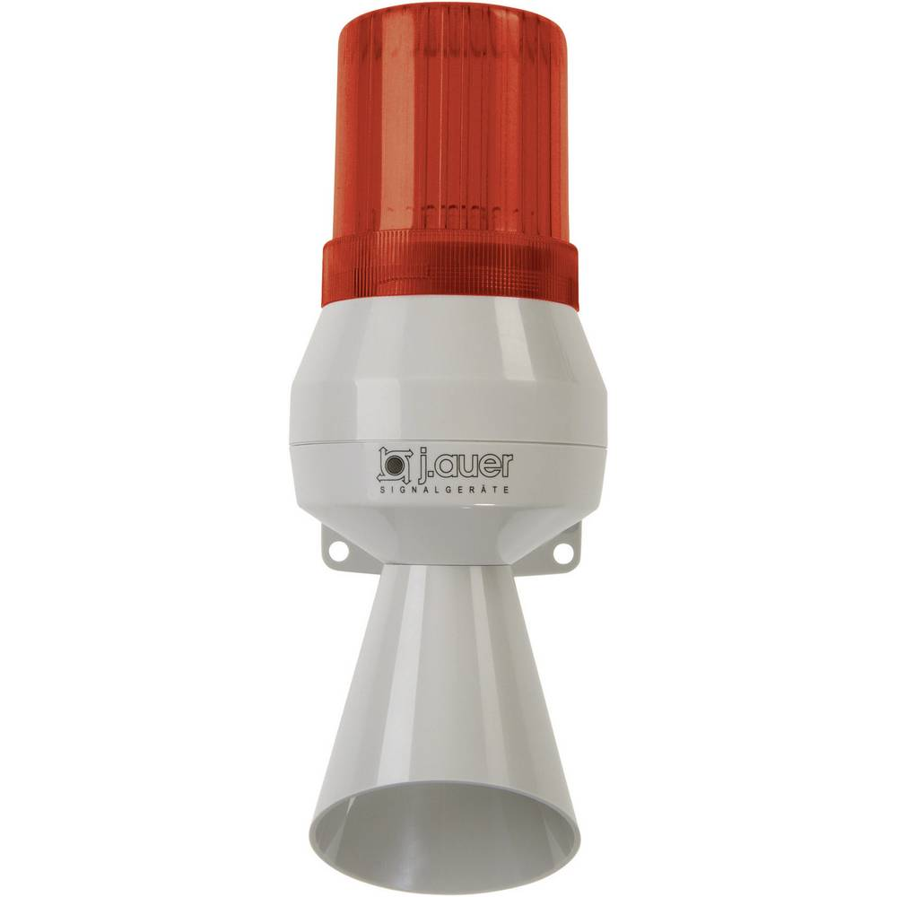 Kombinirani oddajnik signala Auer Signalgeräte KLL rdeča neprekinjena luč, neprekinjen ton 12 V/DC