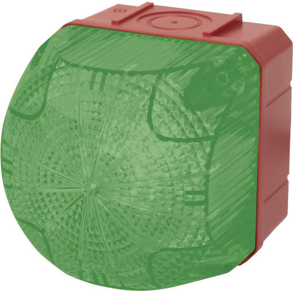 Signalna luč LED Auer Signalgeräte QDS zelena neprekinjena luč, utripajoča luč 24 V/DC, 24 V/AC