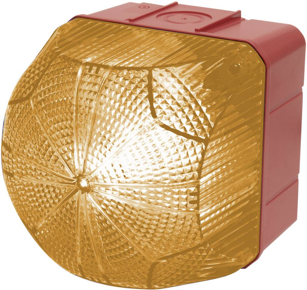 Signalna luč LED Auer Signalgeräte QDM oranžna neprekinjena luč, utripajoča luč 24 V/DC, 24 V/AC, 48 V/DC, 48 V/AC