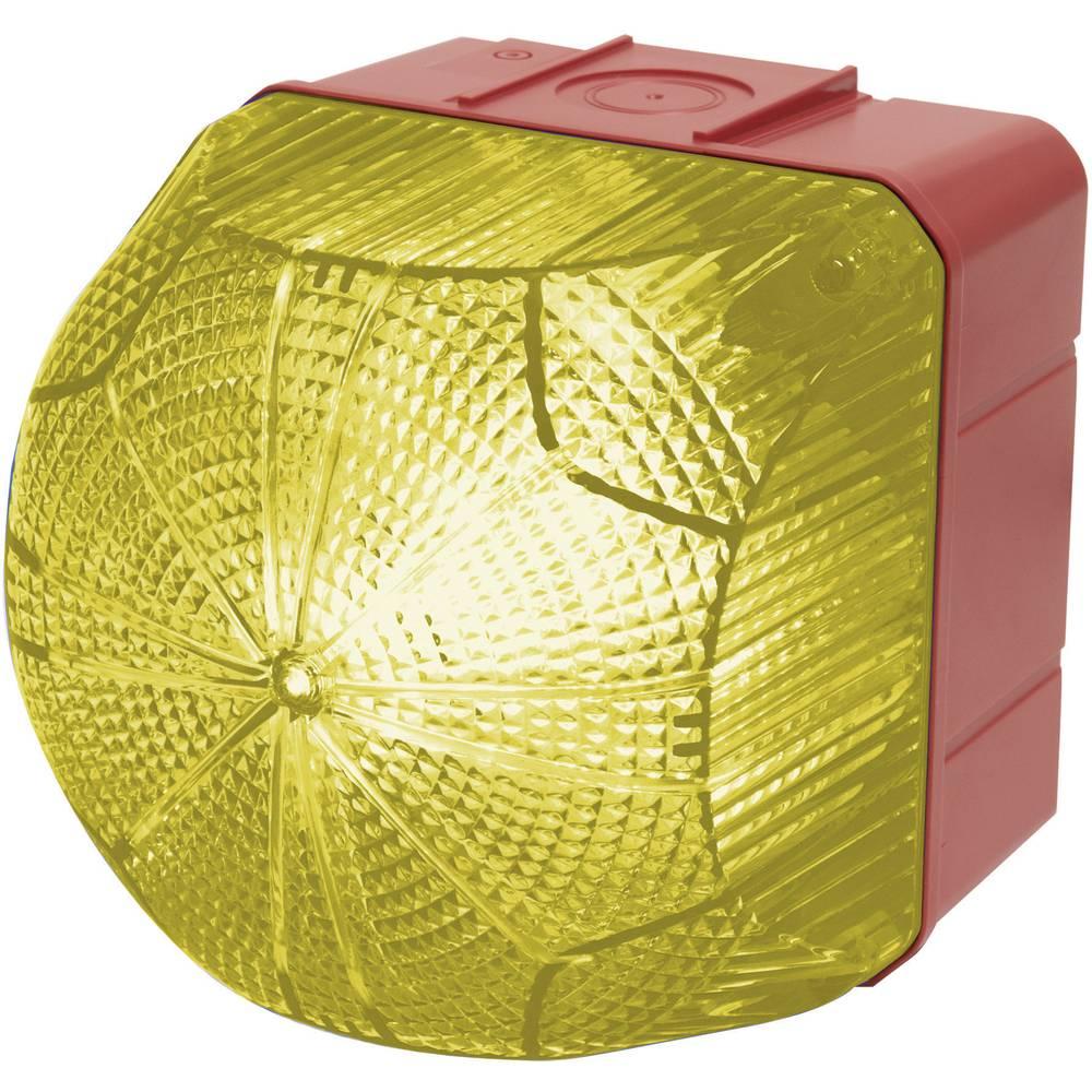 Signalna luč LED Auer Signalgeräte QDM rumena neprekinjena luč, utripajoča luč 24 V/DC, 24 V/AC, 48 V/DC, 48 V/AC