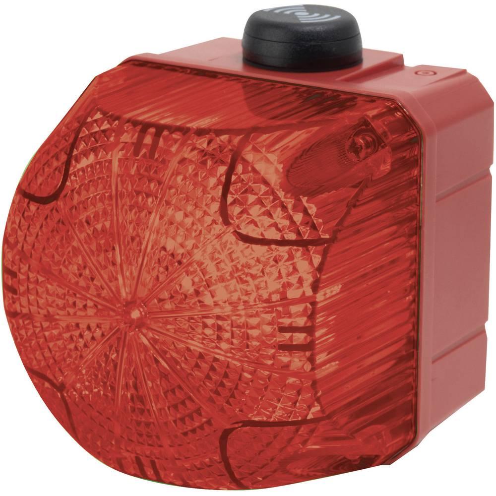 Kombinirani oddajnik signala Auer Signalgeräte QSS rdeča neprekinjena luč, utripajoča luč 24 V/DC, 24 V/AC 85 dB