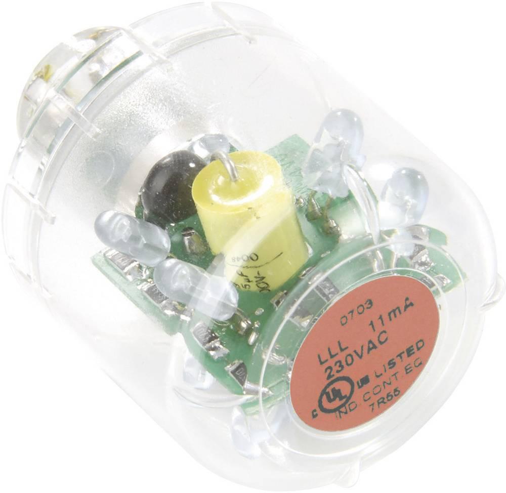Auer Signalgeräte LED-svetilka LED-neprekinjena luč LLL rdeča, 12 V AC/DC, BA15d